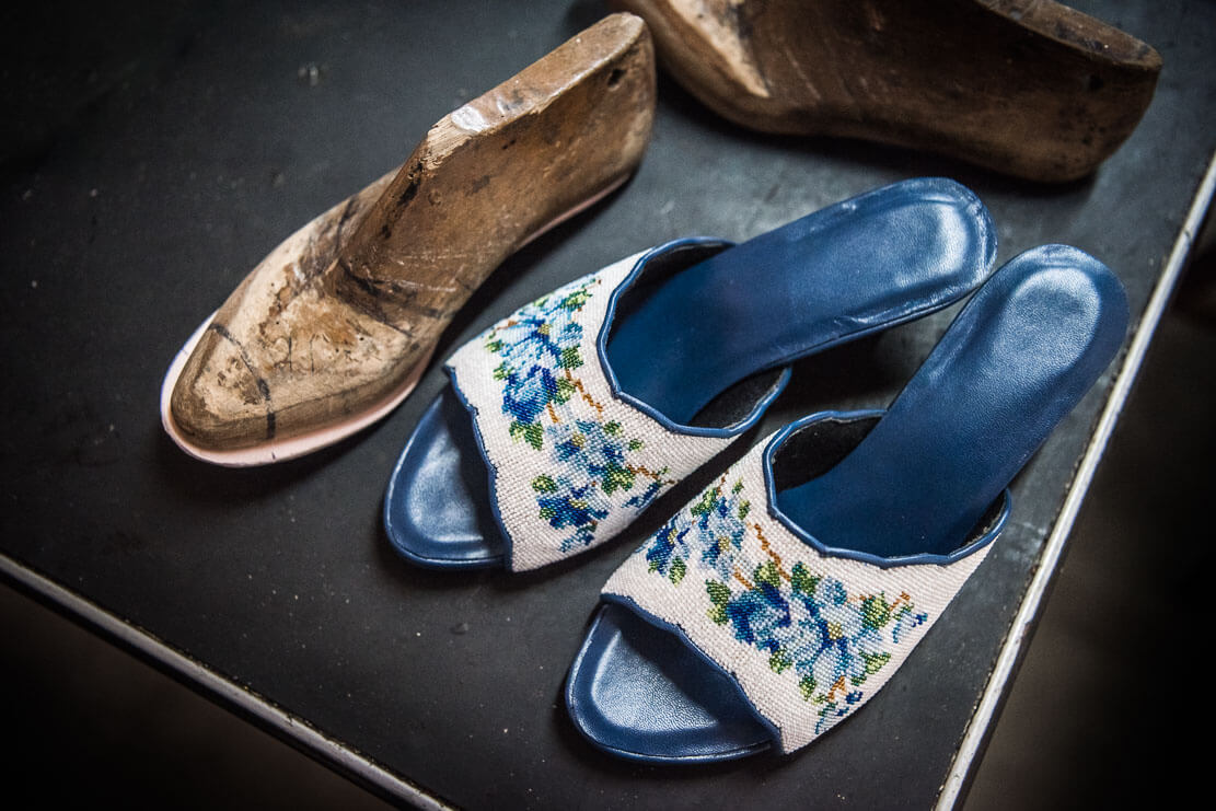 Nyonya beaded shoes