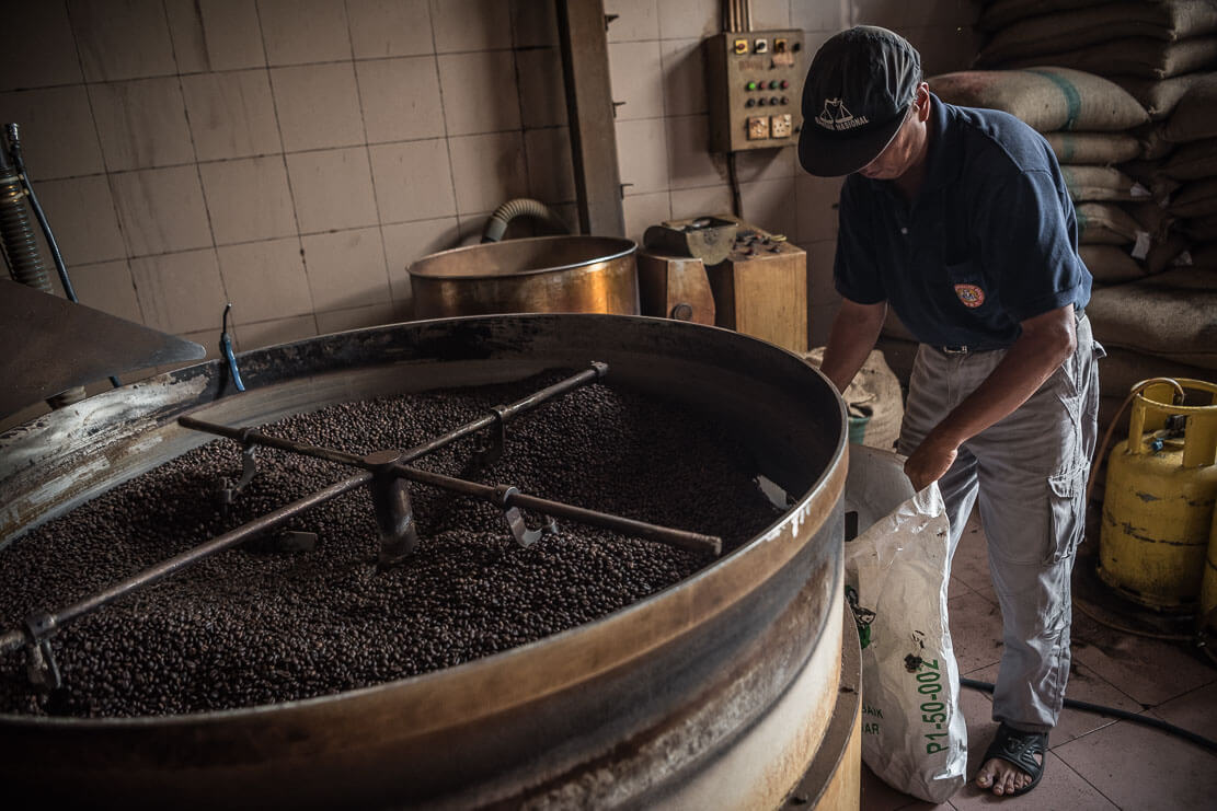 Roasting coffee in Penang