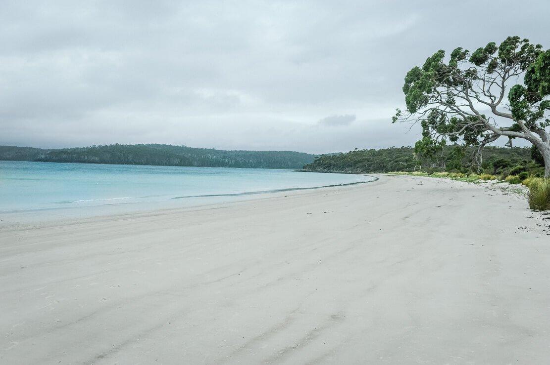 Beaches of Adventure Bay on Bruny Island in Tasmania