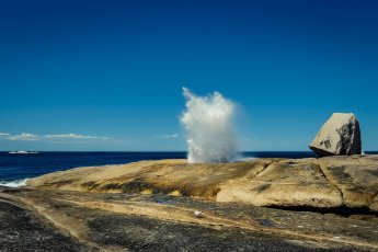 Bicheno Blowhole on East Cost of Tasmania