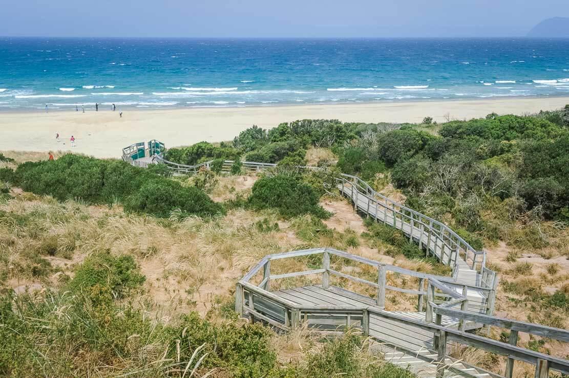Beaches of The Neck on Bruny Island in Tasmania
