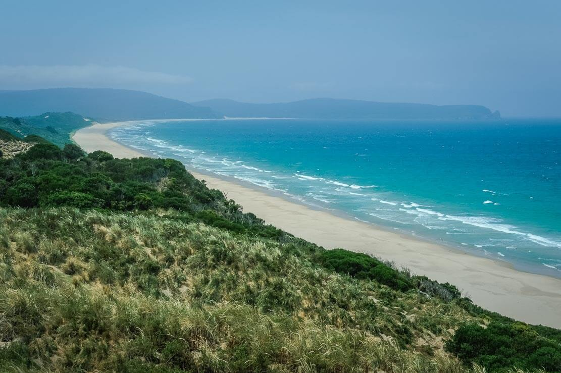 Bruny Island beaches from Truganini Lookout