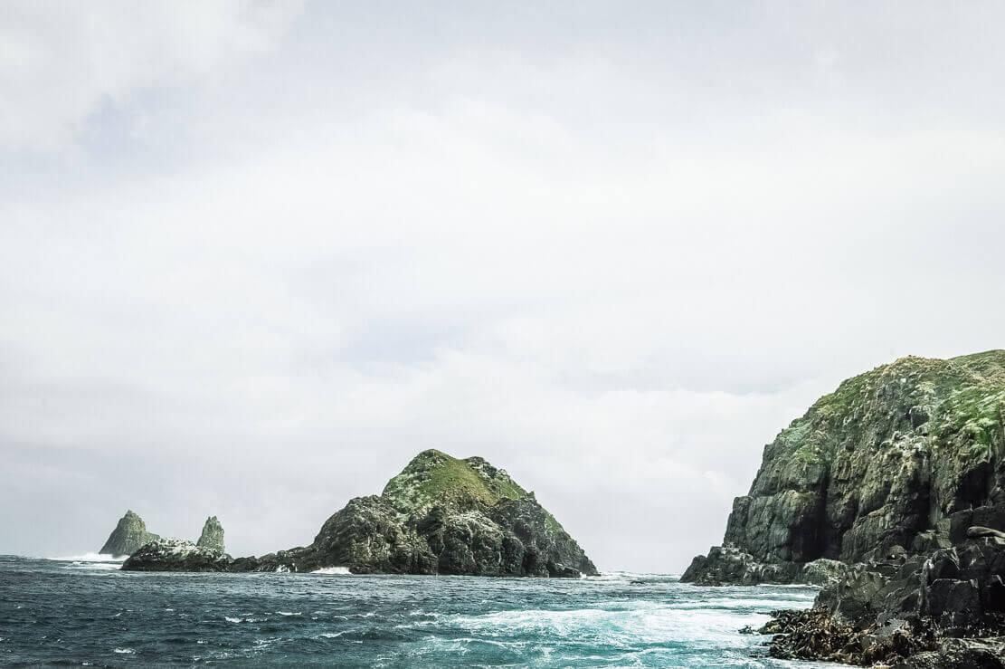 Near The Friars on Bruny Island Cruise by Pennicott Wilderness Journeys in Tasmania