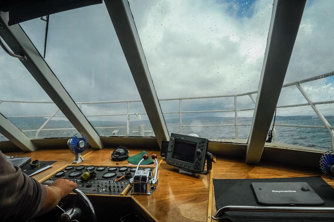 Ferry to Maria Island in Tasmania