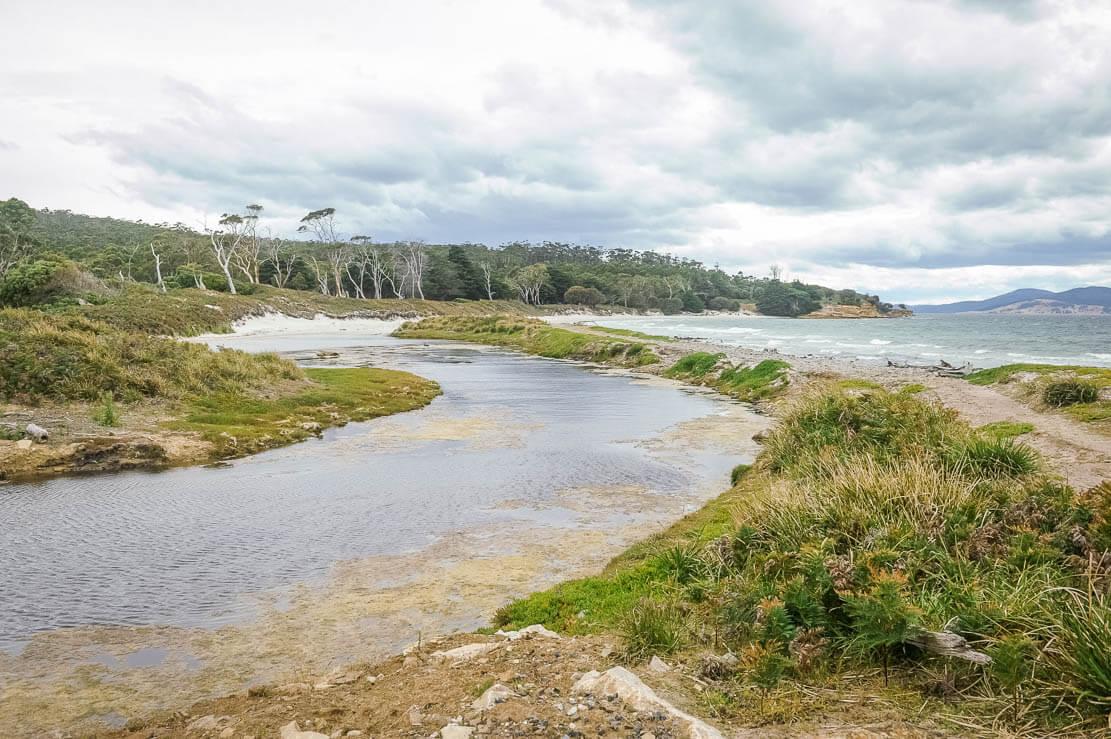 Walking around Maria Island in Tasmania