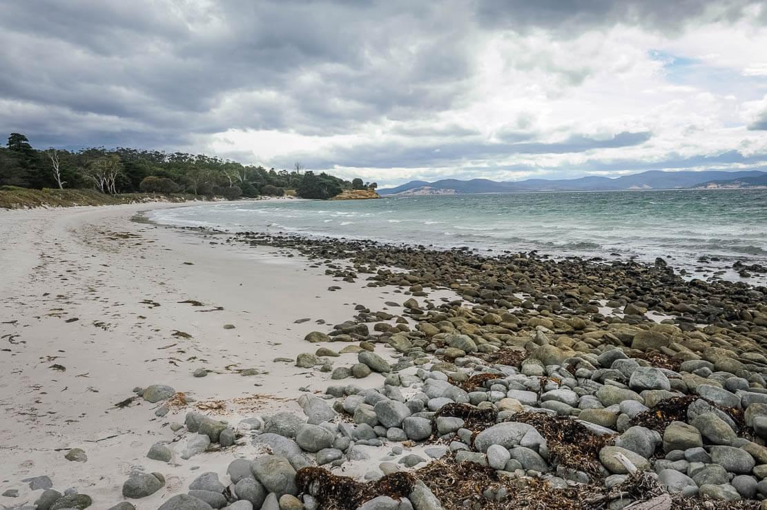 Beaches of Maria Island in Tasmania