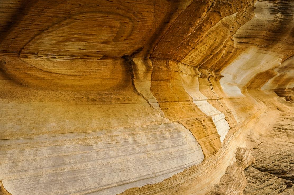 Painted Cliffs of Maria Island with it distinctive sandstone patterns