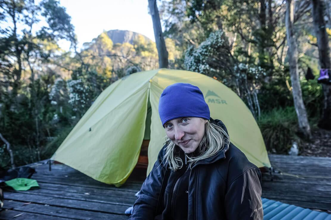 Our campsite at Kia Ora Hut