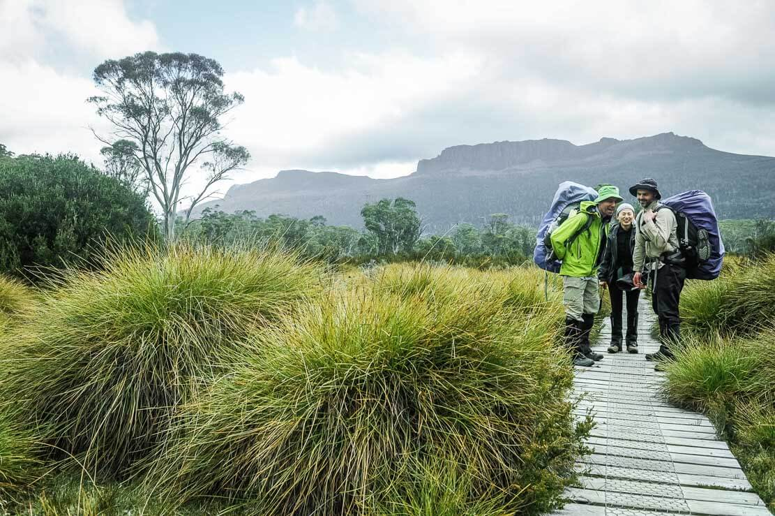 Day 7 of our Overland Track going from Pine Valley to Narcissus Hut at Lake St Clair