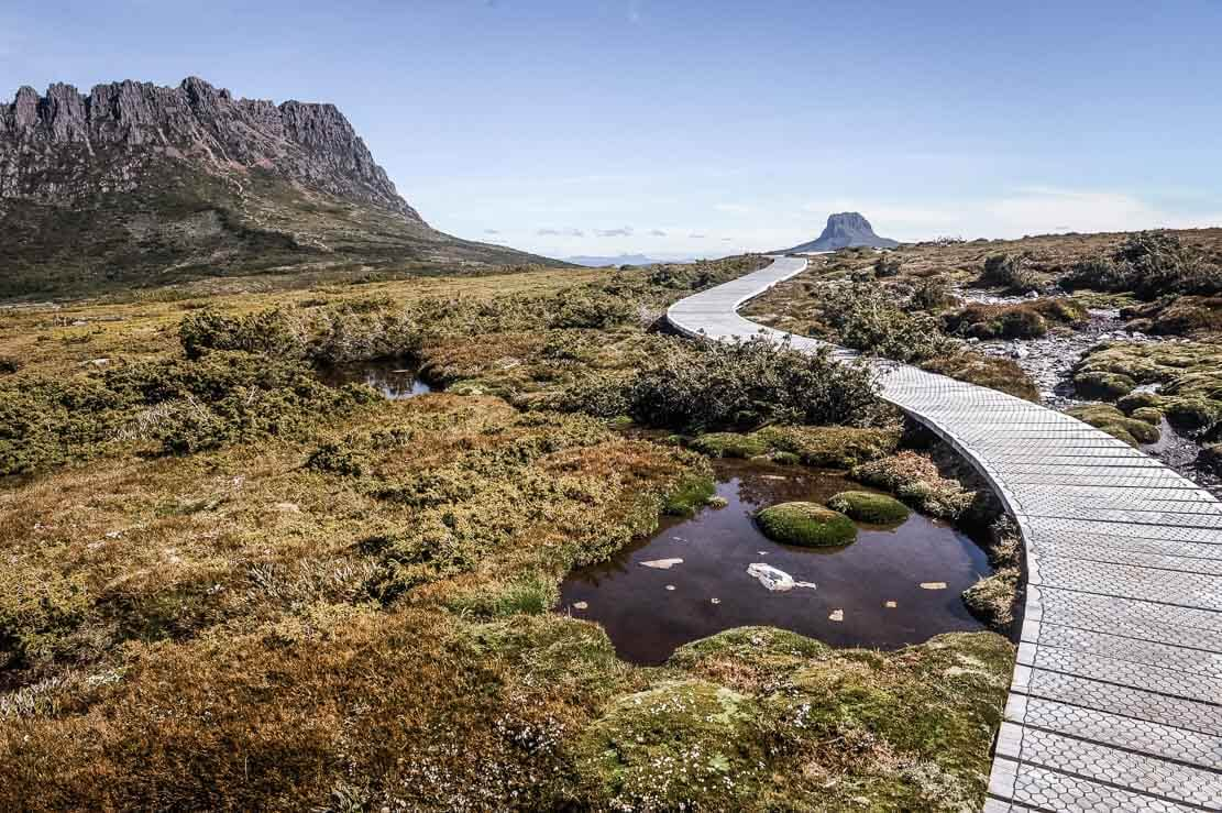 Overland Track famous boardwalks