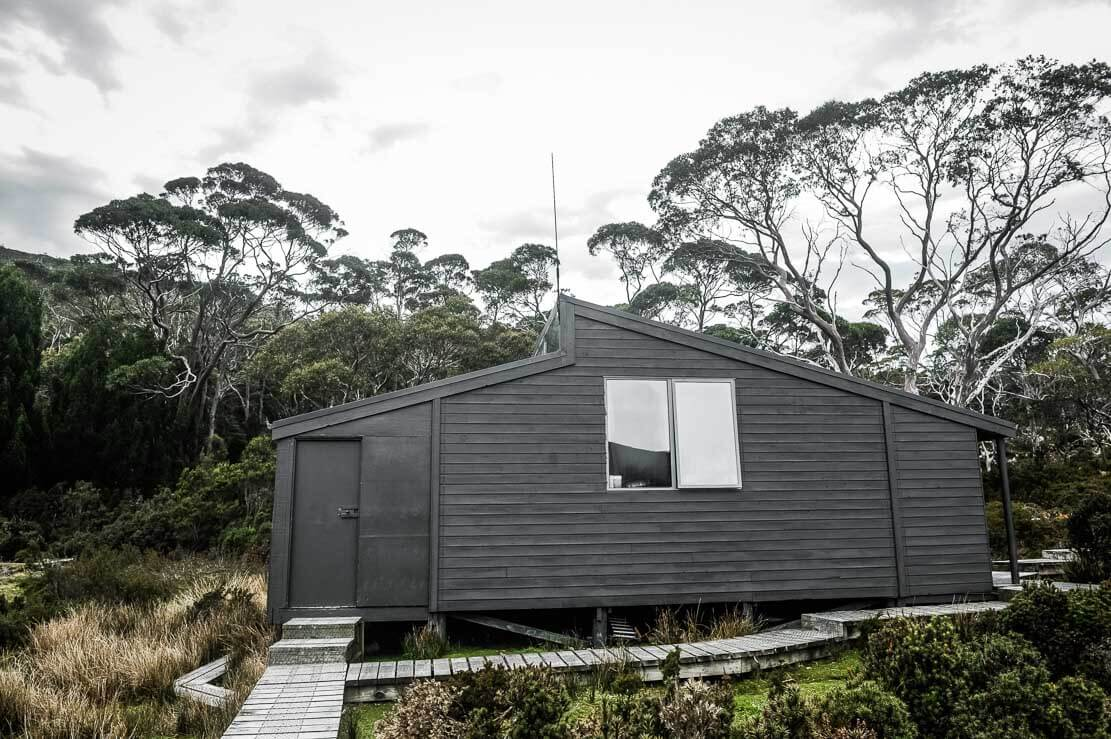 Waterfall Valley Hut, Overland Track in Tasmania