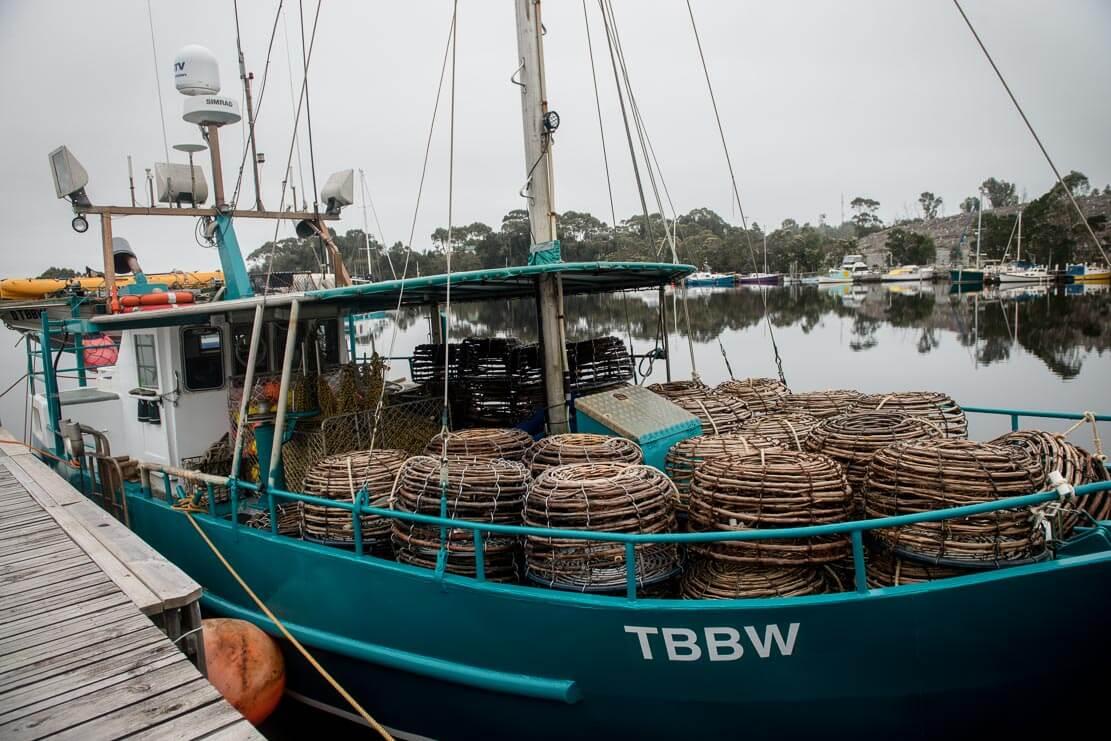 Fishing village of Strahan on the West Coast of Tasmania