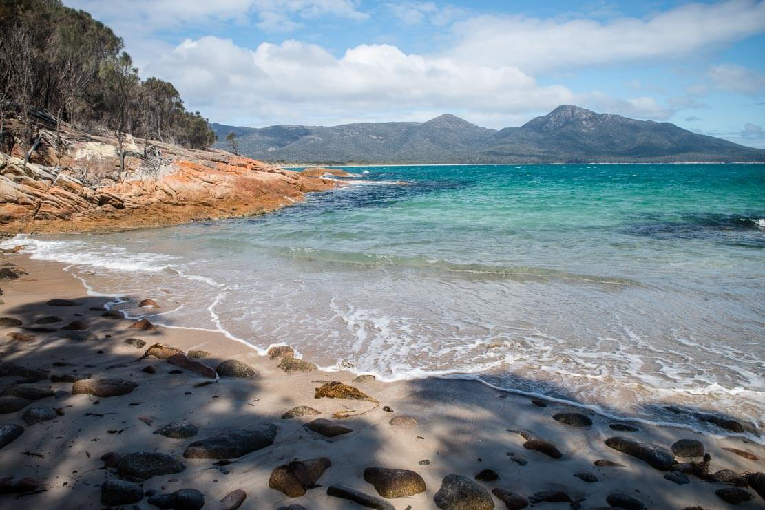 Walking Freycinet Peninsula Circuit in Freycinet National Park in Tasmania