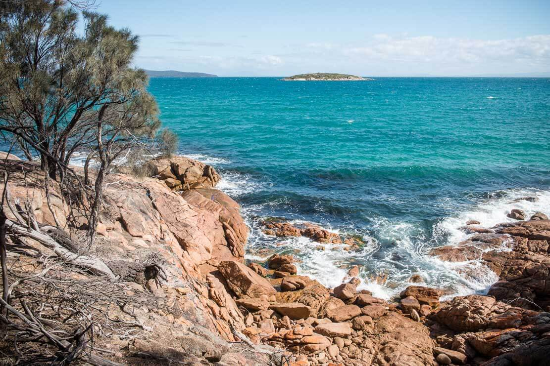 Hazards Beach in Freycinet National Park in Tasmania