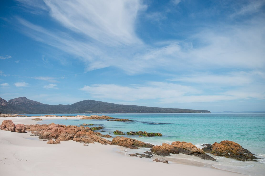 Bryans Beach in Freycinet National Park in Tasmania