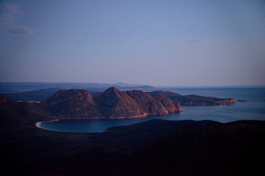 Climbing Mt Graham in Freycinet National Park in Tasmania
