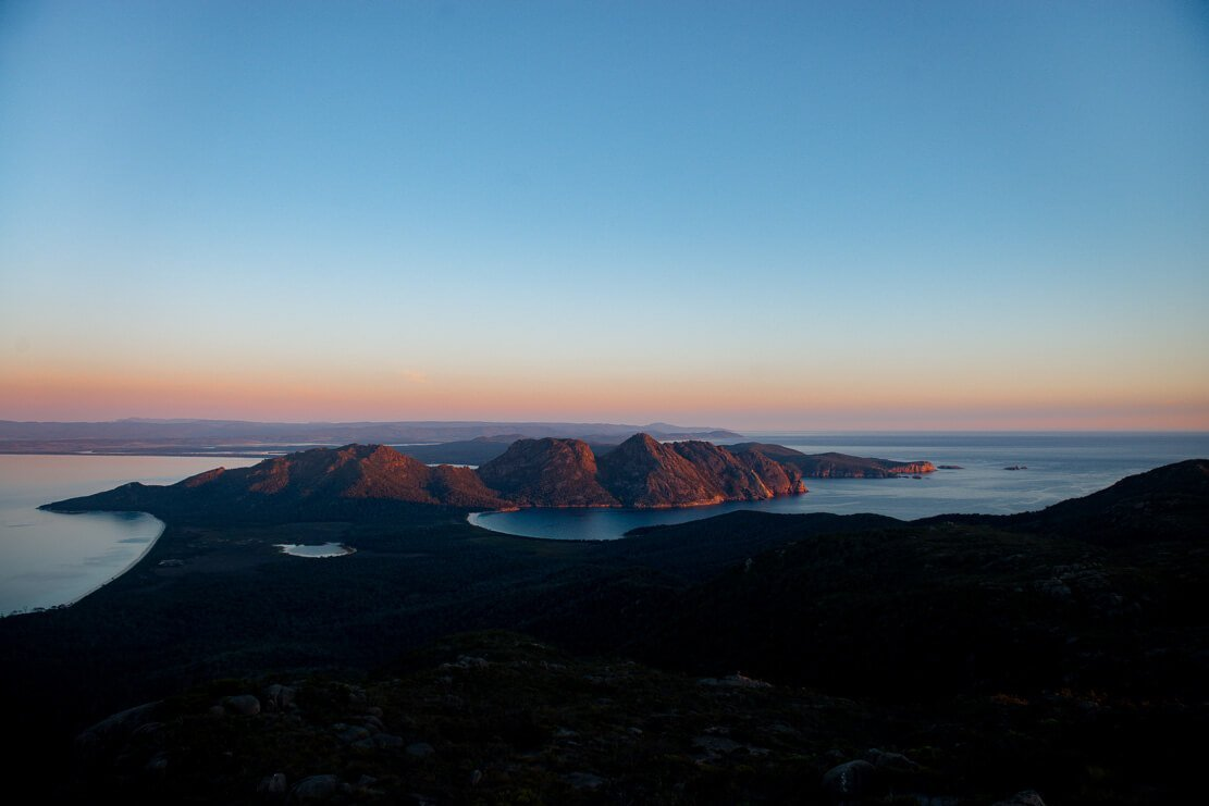 Climbing Mt Graham on Freycinet Peninsula Circuit in Tasmania