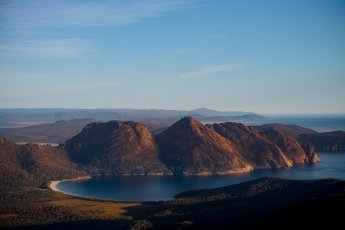 Stunning views from Mt Graham in Freycinet National Park in Tasmania