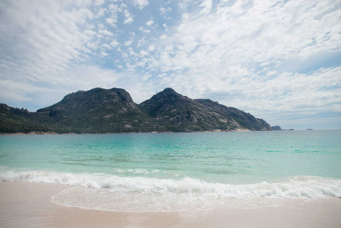 Wineglass Bay Beach in Freycinet National Park in Tasmania