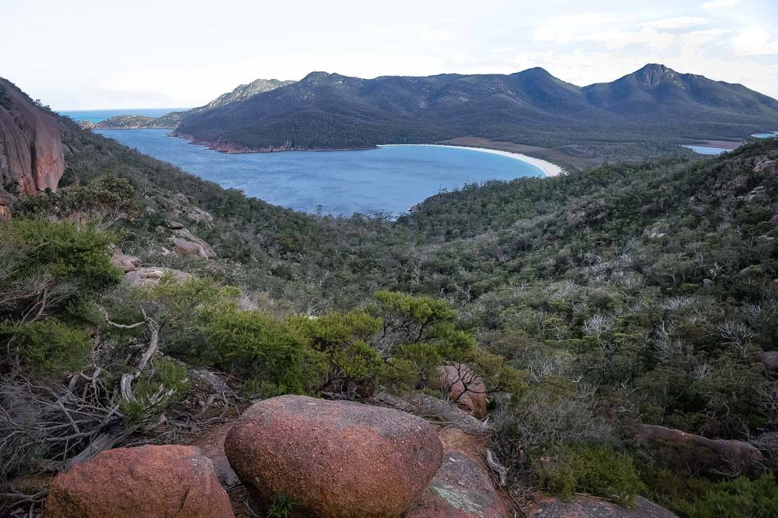 Wineglass Bay Lookout in Freycinet National Park in Tasmania