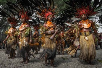 Women from Chimbu (Simbu) Province of Papua New Guinea at Melanesian Festival