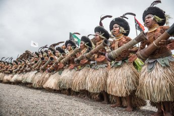 Suli Muli dancers from Enga Province of Papua New Guinea at Melanesian Festival of Arts and Culture