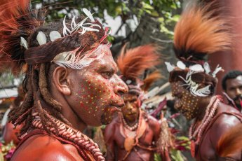 Foi tribesmen from Southern Highlands Province of Papua New Guinea at Melanesian Festival of Arts and Culture