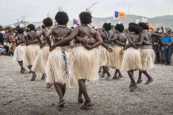 Women performers from Bougainville Province (AROB) of Papua New Guinea at Melanesian Festival of Arts and Culture