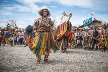 Performers from Gulf Province of Papua New Guinea at Melanesian Festival of Arts and Culture