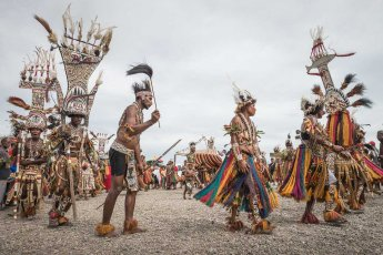 Tribesmen from Gulf Province of Papua New Guinea at Melanesian Festival of Arts and Culture