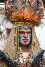 Tribesman from Jiwaka Province of Papua New Guinea at Melanesian Festival of Arts and Culture