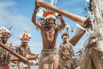 Performers from Oro Province of Papua New Guinea at Melanesian Festival of Arts and Culture