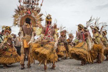 Mekeo sing sing group from Central Province of Papua New Guinea at Melanesian Festival