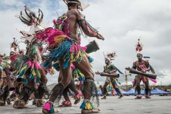 Performers from Morobe Province of Papua New Guinea at Melanesian Festival of Arts and Culture