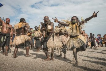 Performers from New Ireland Province of Papua New Guinea at Melanesia Festival of Arts and Culture