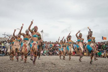 Performers from Manus Province of Papua New Guinea at Melanesian Festival