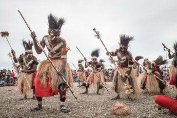 Performers at Melanesian Festival of Arts and Culture in Papua New Guinea