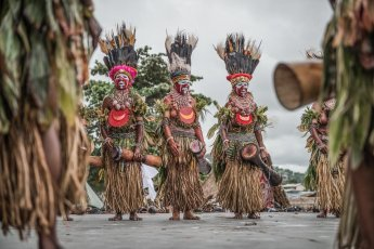 Sing sing group from Western Highlands - Jiwaka provinces of Papua New Guinea at Melanesian Festival