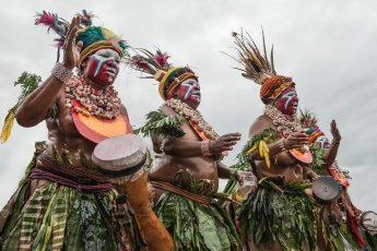Performers from Western Highlands - Jiwaka provinces of Papua New Guinea at Melanesian Festival