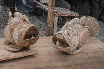 Famous carvings from Trobriand Islands on sale at Melanesian Festival